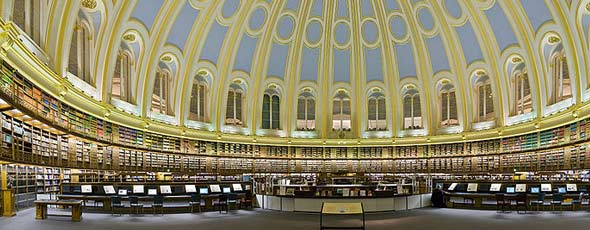 La Reading Room del British Museum a Londra, Inghilterra