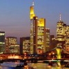 The city of Frankfurt Skyline