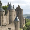 Carcassonne castle in the Languedoc-Roussillon region