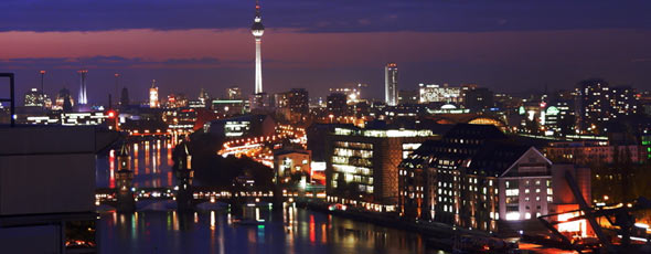Berlin Cityscape at Night