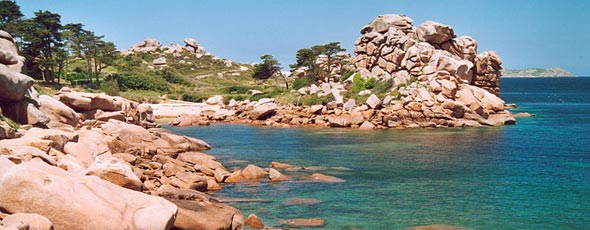 The Brittany Pink Granite coastline