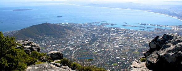 Cape Bowl from Table Mountain by Michael Day