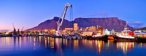 Cape Town Harbour with Table Mountain by Darren Francis