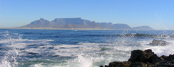 View over Cape Town from Robben Island by Matthias Kniese
